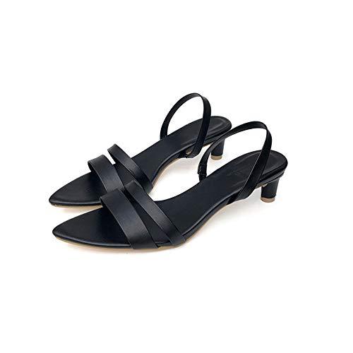 d'été à 1 Marron 3 Chaussures Taille EU Yiwuhu l'usure Couleur Sauvage résistantes Respirantes Glissement Occasionnel Noir Sauvage 39 de 04ytaqfw