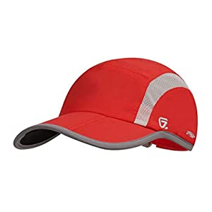 GADIEMKENSD UPF 50+ Outdoor Hat Folding Reflective Running Cap Unstructured Sport Hats for Men & Women