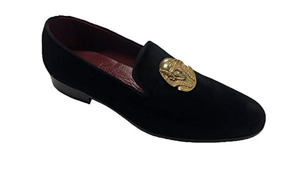 Garofalo Gianbattista Mocasines de Terciopelo para Hombre Negro Negro: Amazon.es: Zapatos y complementos