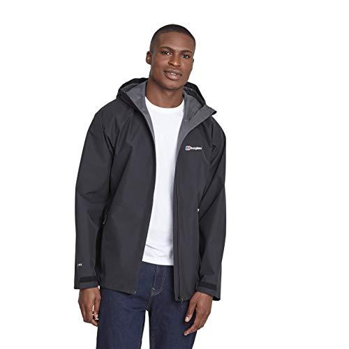 Berghaus Men's Paclite 2.0 Waterproof Jacket, Black/Black, M from Berghaus