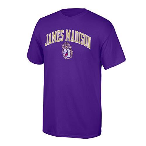Dukes Classic T-shirt - Elite Fan Shop NCAA James Madison Dukes Mens NCAA T Shirt Team Color ArchNCAA T Shirt Team Color Arch, Purple, Large
