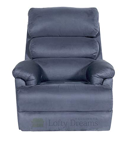 Lofty Dreams Recliners Single Seater Recliner Manual Recliner Chair in Fabric  Manual Recliner, Grey