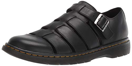 Dr. Martens Men's Fenton Sandal, Black, 10 Medium UK (11 US) ()
