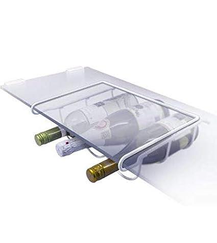 Soporte universal para botellas de vino, soporte de botellas para frigorífico, blanco