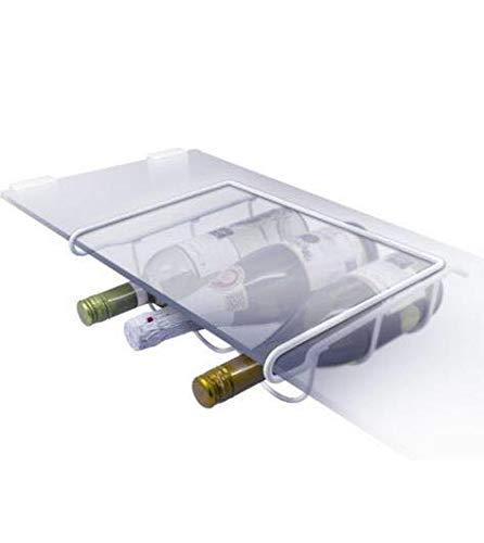 Soporte universal para botellas de vino, soporte de botellas para frigorífico, blanco: Amazon.es: Hogar