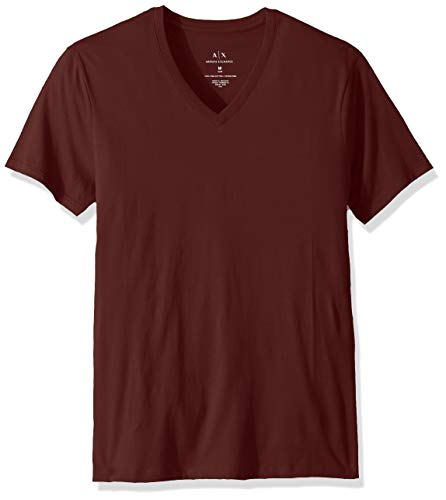 Exchange Short Sleeve T-shirt - A|X Armani Exchange Men's Pima Cotton Jersey Short Sleeve Tshirt, Chocolate Truffle, S