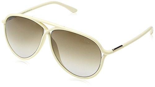 Tom Ford Women's Maximillion Sunglasses with Ivory Frame and Brown - Ford Tom Womens Watches