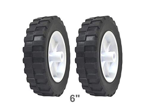 2 Pack - Solid Rubber Flat Free Tire 6