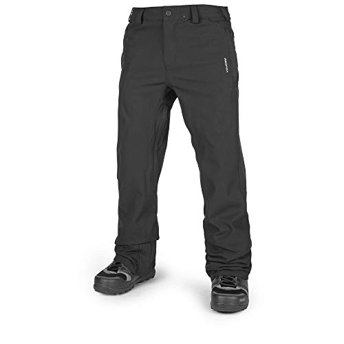 Volcom Men's Freakin Relaxed Fit Chino Style Snow Pant, Black, Extra Small