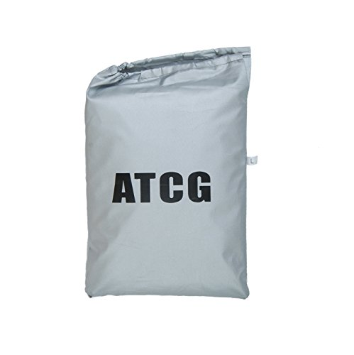 ATCG Bike Cover 190T Nylon Waterproof bicycle cover for Mountain Bike, Road Bike with Storage Bag Silver & Black (size: L) by ATCG (Image #2)