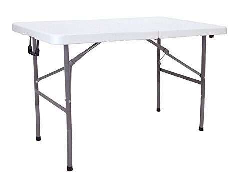 Cheap TMS Folding Table Portable 4ft Plastic Indoor Outdoor Picnic Party Dining Camp Table White