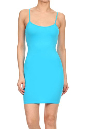 womens spaghetti strap mini dress - 4