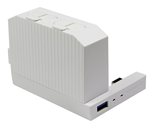 Amazon Basics Controller Battery Pack Charger For Xbox One S Console - White (Not compatible with Xbox One S All-Digital Edition Console)