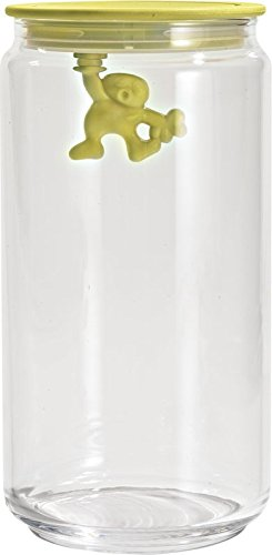 A di Alessi - Dream Factory Gianni Storage Jar with Lid by Mattia Di Rosa Size: Large, Color: ()