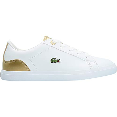 White Lerond White Trainers 318 3 Youth Synthetic Gold Lacoste R8pdaqwxva