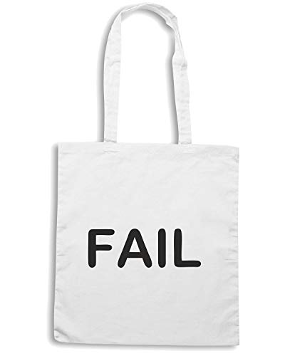 Speed Bianca FAIL Shirt TDM00072 Shopper Borsa YUfYF