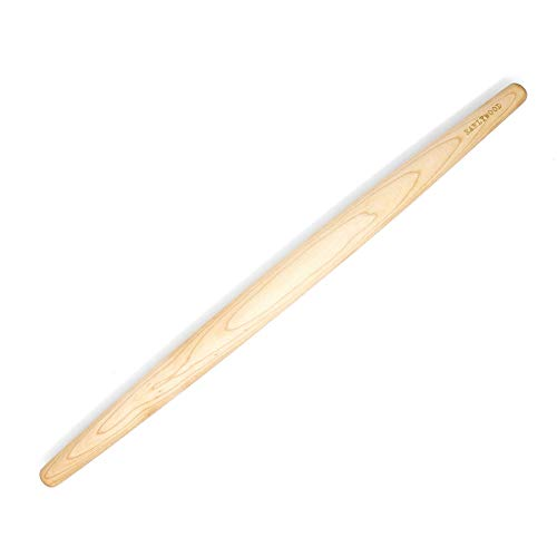 French Rolling Pin - Tapered Wooden Rolling Pin for Baking Pizza, Pastry Dough...