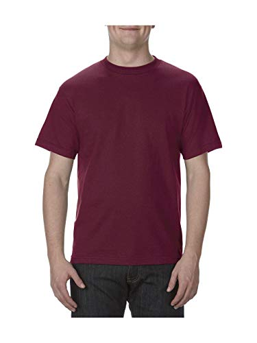 Burgandy Apparel - Alstyle Apparel AAA Men's Classic Cotton Short Sleeve T-shirt, Burgundy, Medium