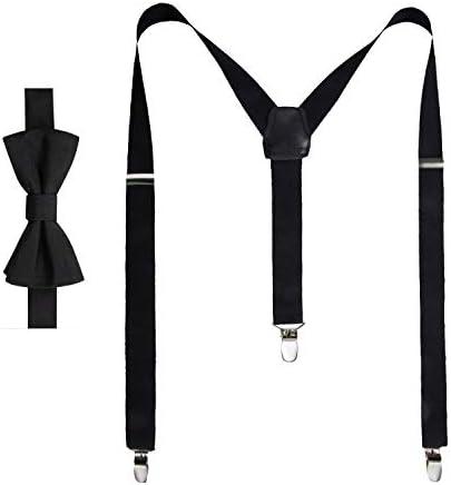 Chaps Boys` Bow Tie Suspender Set