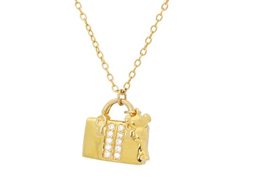 Fifth Avenue Sparkling Purse Pendant Necklace, 16