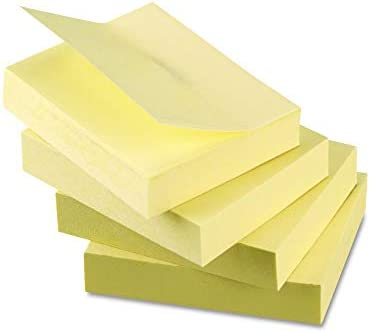 Yellow 1InTheOffice Self-Stick Note Pads 100-Sheet 12//Pack Sticky Notes 1.5 x 2