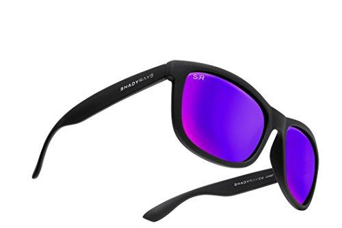 Shady Rays Signature Series Polarized Sunglasses Purple, Sunset ()