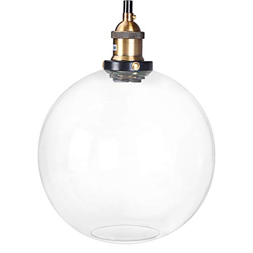 Iusun Hanging Ceiling Lamp Shade Vintage Edison Industrial Retro Loft Glass Pendant Light -Light Source:LED Bulb/Edison Bulb(Does Not Include Bulbs)-for Home Holiday Party Decor - Ship From USA (C)