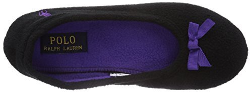 Ballet Bayley Fleece Lauren Femme W Pu Chaussons Ralph Noir Women's black Polo StqzwIOO