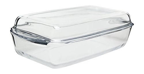 "Glass Casserole Baking Dish with Cover, 12"" x 7.5"""