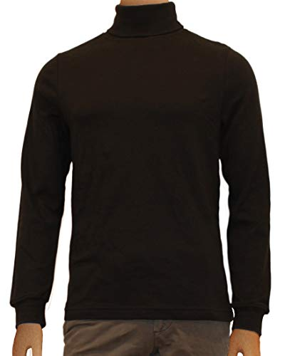 - Black Men's 100% Combed Cotton Supersoft Relaxfit Casual Ski Turtleneck (X-Large)