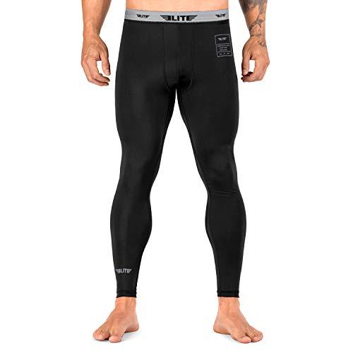 Elite Sports Men's BJJ Spats Leggings Tights, Best Jiu Jitsu MMA no Gi spat Compression Pants for Men