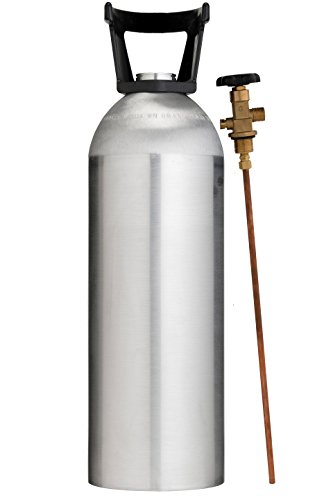 Cyl-Tec 20 lb Tank - New Cylinder with Valve Includes Tube for Liquid. by Cyl-Tec
