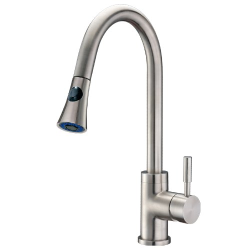 Stainless Steel 48 Inch Access - Cadell 71300 Single Handle Kitchen Faucet with Pull-Down, Brushed Stainless Steel