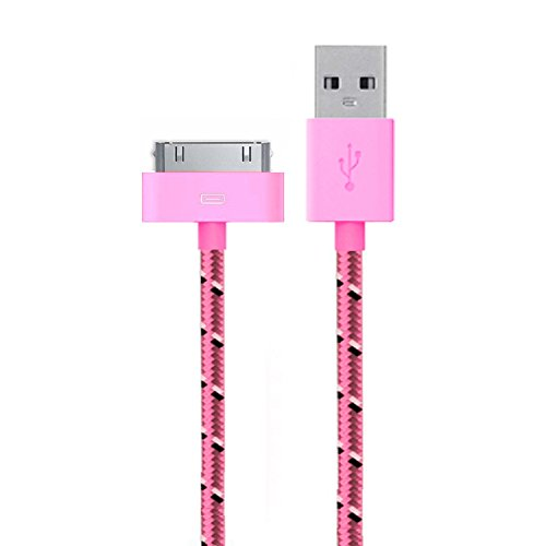 Go Beyond (TM) 6 Feet 30 Pin Nylon Braided Premium USB Charging Data Sync Cable for Apple iPod, (Prime 4th Generation Ipod Cases)