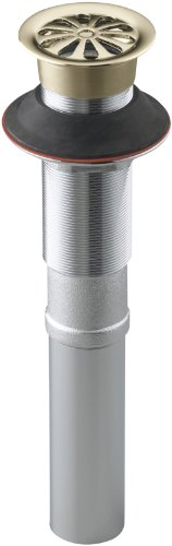 Kohler Lavatory Drain - Kohler K-7129-AF Lavatory Grid Drain Without Overflow, Vibrant French Gold