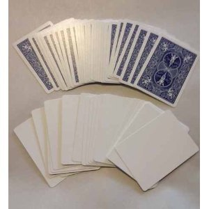 - Blank Face Cards (Bicycle) - blue