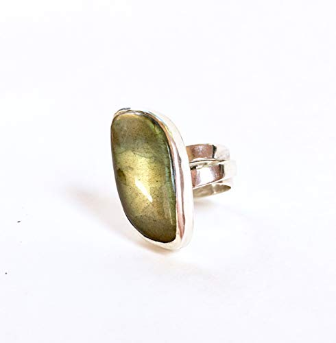 Organic shaped Labradorite Statement Ring