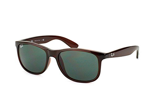 fdf9bdba1aef6 Image Unavailable. Image not available for. Color  Ray-Ban ANDY - BROWN  Frame GREY GREEN Lenses 55mm ...
