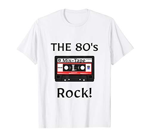 (The 80's Rock ! Cassette Tape Black Print T-Shirt)