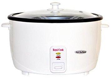 Royal Cook rc-77251persa de arroz cocina con tapa de vidrio, 25-cup, color blanco