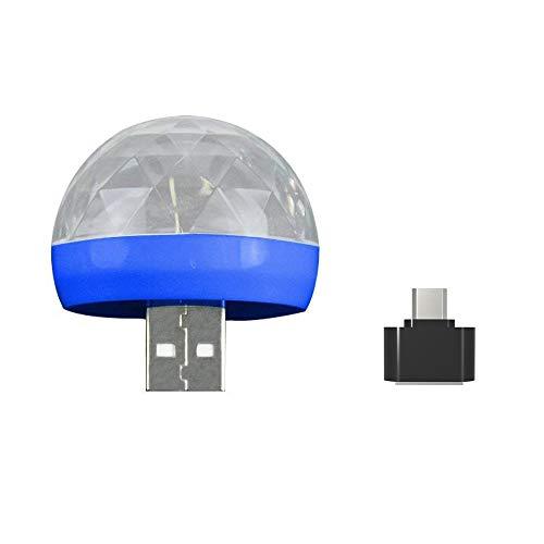 Redvive Top USB Mini LED RGB Disco Stage Light Party Club DJ KTV Xmas Magic Phone Ball Lamp