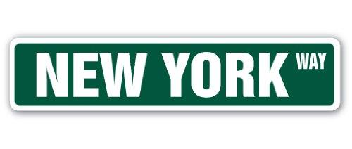 NEW YORK Street Sign NYC city Manhatten Broadway Times | Indoor/Outdoor | 18