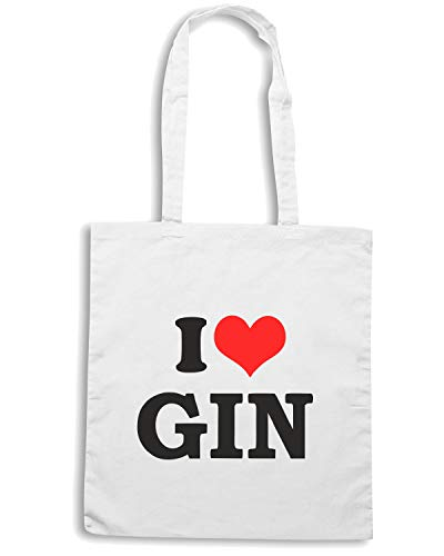 Borsa Shopper Bianca TR0064 I LOVE GIN HEN NIGHT STAG DO DRINKING PARTY