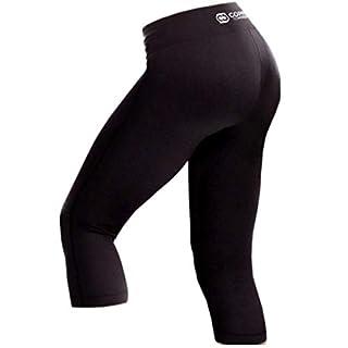 Copper Compression Womens Capri Leggings - High Waist Pants, Tights, Capris Large - Size 12-14 Black