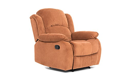 Classic and Traditional Brown Brush Microfiber Recliner Chair, Love Seat, Sofa Size - 1 Seater, 2 Seater, 3 Seater Set (1 Seater)