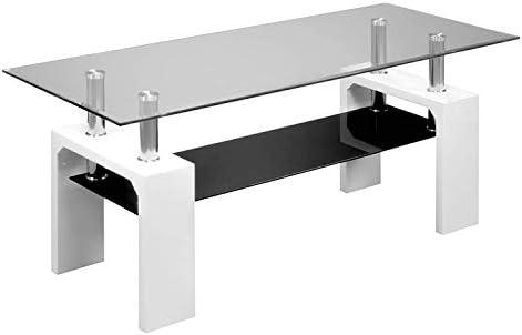 duehome - Mueble de TV Moderno para Salon, Mesa de Cristal ...