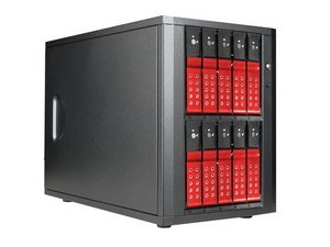 iStarUSA DAGE1040DERD-PM Esata-port Multiplier Trayless Hot Swap Enclosures - Red by iStarUSA