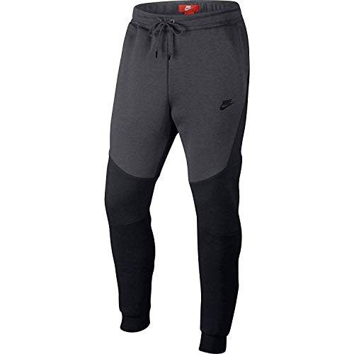 Nike Mens Sportswear Tech Fleece Jogger Sweatpants Black/Anthracite 805162-012 Size Small by Nike (Image #1)