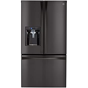 Kenmore Elite 74027 29.8 cu. ft. French Door Bottom-Freezer Refrigerator in Black Stainless Steel, includes delivery and hookup (Available in select cities only)