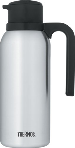 Creamer Pump Dispenser - Thermos 32 Ounce Vacuum Insulated Stainless Steel Carafe